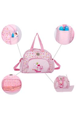Mee Mee Multipurpose Diaper Bag (Pink)