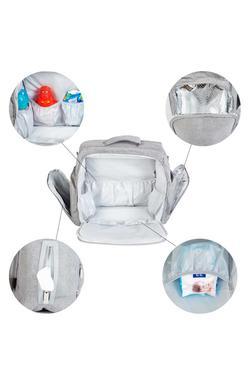 Mee Mee Multipurpose Diaper Bag (Grey)