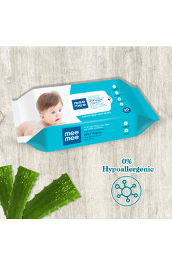 White and Blue Multipurpose Gentle Baby Wipes