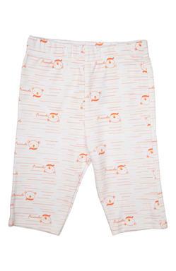 Mee Mee Unisex Full Length Peach & White Printed Leggings Pack Of 2