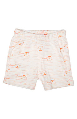 Mee Mee Kids White Printed Short Pack Of 2 (Peach)