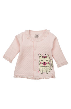 Mee Mee Full Sleeve Girls Night Suit (Light Pink_Grey_Melange)