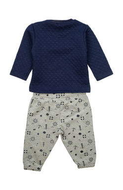 Mee Mee Full Sleeve Boys Night Suit (Navy_Grey_Melange)