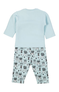 Mee Mee Full Sleeve Boys Night Suit (Light Blue)