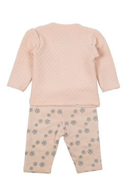 Mee Mee Full Sleeve Girls Night Suit (Peach)