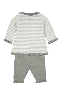 Mee Mee Full Sleeve Girls Night Suit (Grey_Melange)