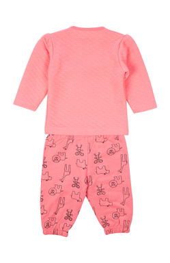 Mee Mee Full Sleeve Girls Night Suit (Dark Pink)