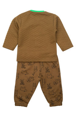 Mee Mee Full Sleeve Boys Night Suit (Olive)