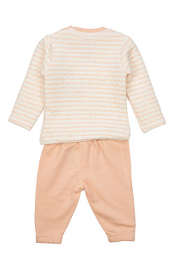 Mee Mee Full Sleeve Boys Night Suit (Peach)