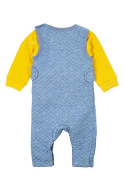 Mee Mee Full Sleeve Boys Dungree Set (Yellow_Blue)