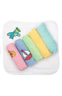 Mee Mee Baby Mini Napkins (Assorted) Pack Of 6