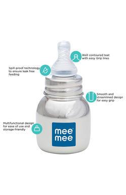 Mee Mee Premium Steel Feeding Bottle (120ml)