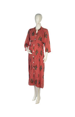 Mee Mee Stylish Maternity Dress With Nursing Option ? Beige & Red