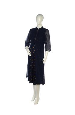 Mee Mee Stylish Maternity Dress With Nursing Option (Navy Blue)