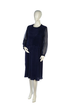 Mee Mee Stylish Maternity Dress With Nursing Option ? Royal Blue