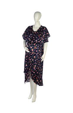 Mee Mee Stylish Maternity Dress With Nursing Option ? Maroon