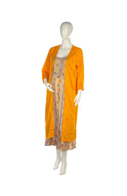 Mee Mee Fashionable Maternity Long Jacket Dress With Feeding Zip ? Yellow