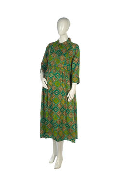 Mee Mee Stylish Maternity Dress With Nursing Option ?  Green & Yellow
