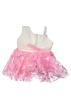 Mee Mee Baby Frilly Party Frock – Pink_White