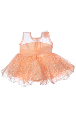 Mee Mee Baby Frilly Party Frock – Peach