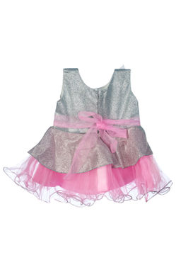 Mee Mee Baby Frilly Party Frock – Silver_Pink