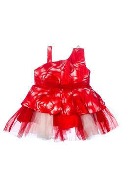 Mee Mee Baby Frilly Party Frock – Red