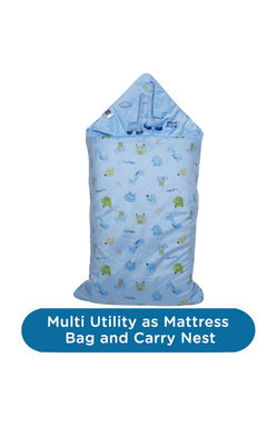 Mee Mee Baby 3-in-1 Multi Usage Bed Cum Sleeping Bag Carry Nest – (Blue)