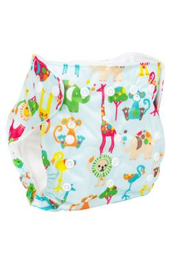 Mee Mee Reusable Baby Cloth Diaper with Adjustable Snap Buttons (Blue)