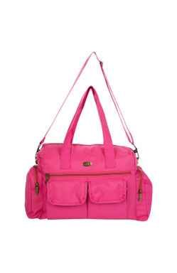 Pink Multifunctional Diaper Bag with Pockets