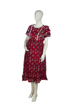 Mee Mee Maternity Dress (Red , XXL)