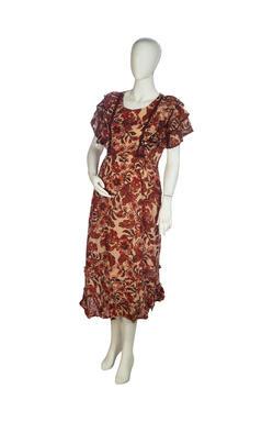Mee Mee Maternity Dress (Brown , XXL)