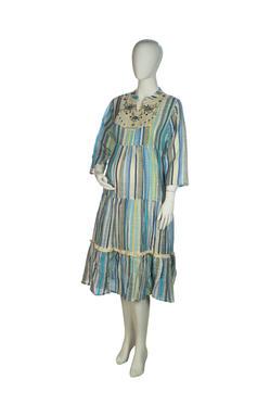 Mee Mee Maternity Dress (Blue_Multi , XXL)
