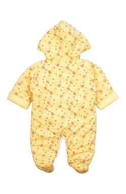 Mee Mee Full Sleeve Unisex Printed Hooded Romper (Yellow)