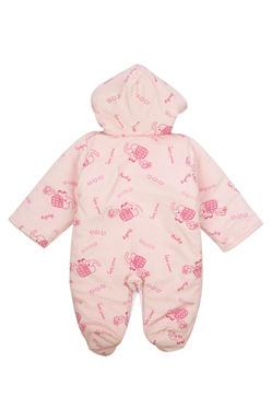 Mee Mee Full Sleeve Printed Unisex Hooded Romper (Pink)