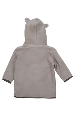 Mee Mee Full Sleeve Boys Dog Embroudery Hodded Jacket (Grey Malange)