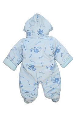 Mee Mee Full Sleeve Printed Unisex Hooded Romper (Blue)