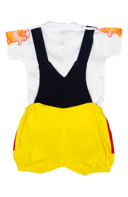 Mee Mee Short Sleeve Tee Cute Duck Dungaree Set