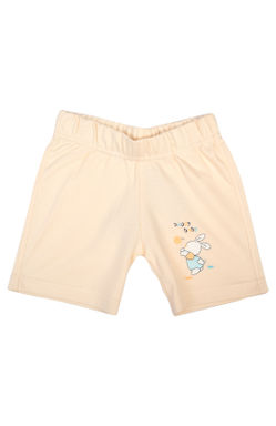 Mee Mee Baby White & Peach Bunny Print Shorts - Pack Of 2