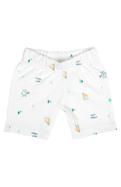 Mee Mee Baby White & Mint Green Shorts - Pack Of 2