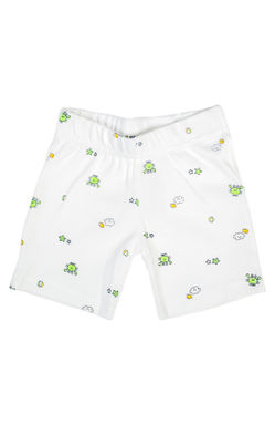 Mee Mee Baby White & Yellow Frog Print Shorts - Pack Of 2