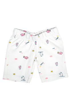 Mee Mee Baby White & Pink Penguin Print Shorts - Pack Of 2