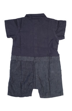 Mee Mee Short Sleeve Chambray Boys Half Romper