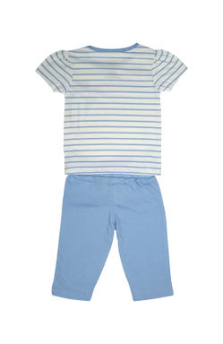 Mee Mee Kids Short Sleeve Stripe Night Suit