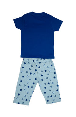 Mee Mee Kids Short Sleeve Space & Star Printed Night Suit