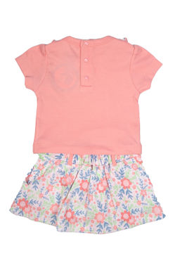 Mee Mee Kids Pink Floral Skirt Set