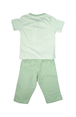 Mee Mee Kids Short Sleeve Playtime Striper Printed Night Suit