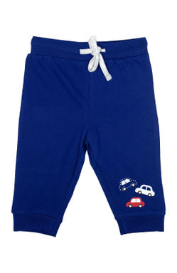 Mee Mee Kids Blue & Grey Car Printed Track Pants - Pack Of 2
