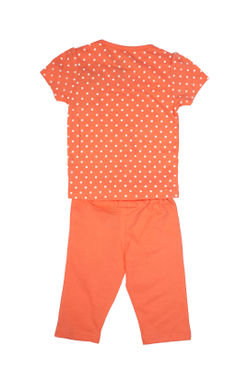 Mee Mee Kids Short Sleeve Polka Print With Clouds Night Suit