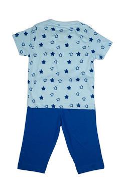 Mee Mee Kids Short Sleeve Star Printed Night Suit