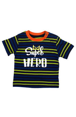Mee Mee Kids Orange & Navy Blue Stripes T-Shirts – Pack Of 2